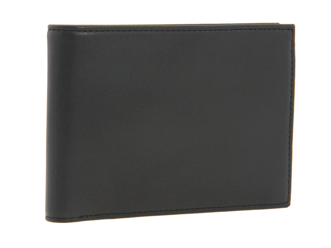 Bosca Nappa Leather Executive Bifold Credit Card ID Wallet Black