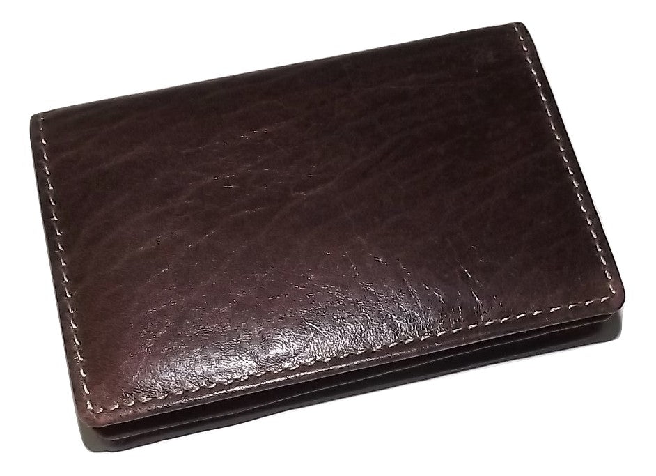 Bosca Gusseted Front Pocket Card Case Chestnut