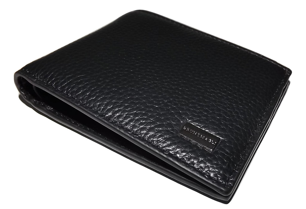 Bruno Magli Leather 6 Pocket Wallet Black