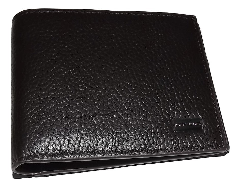 Bruno Magli Leather 6 Pocket Wallet Dark Brown