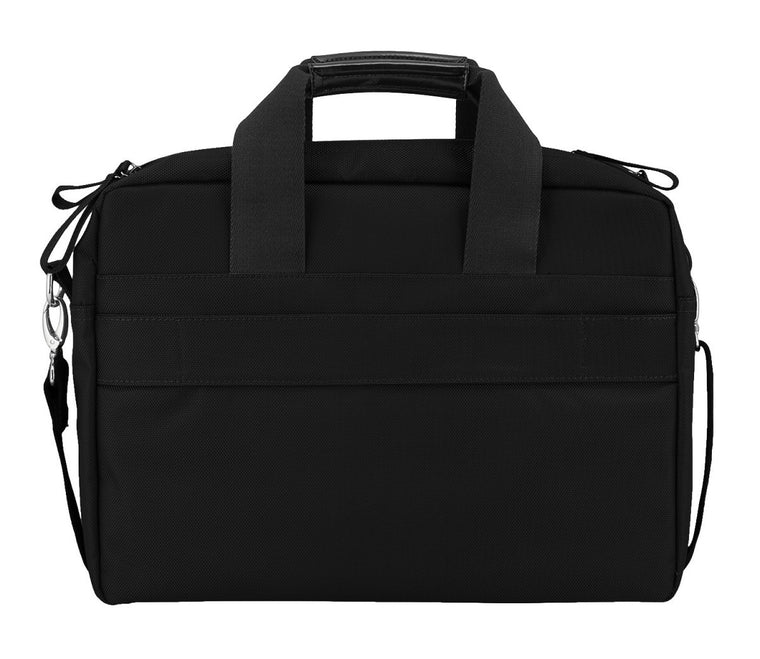 "Bugatti Jason 15.6"" Laptop Brief Bag with Removable Strap Black"