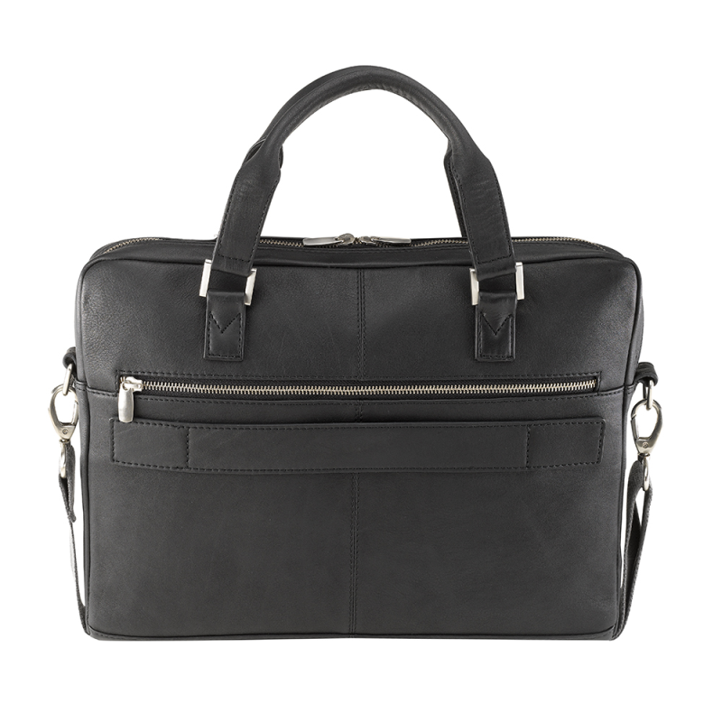 Bugatti Manhattan Leather Briefcase Black