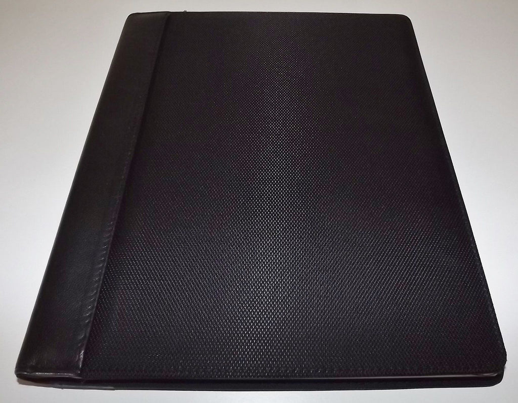 Buxton Nylon & Leather Writing Pad with Calculator Black