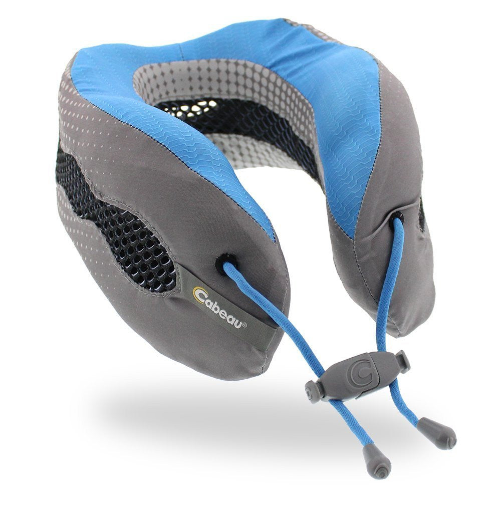 Cabeau Evolution Cool Memory Foam Travel Pillow Glacier Blue