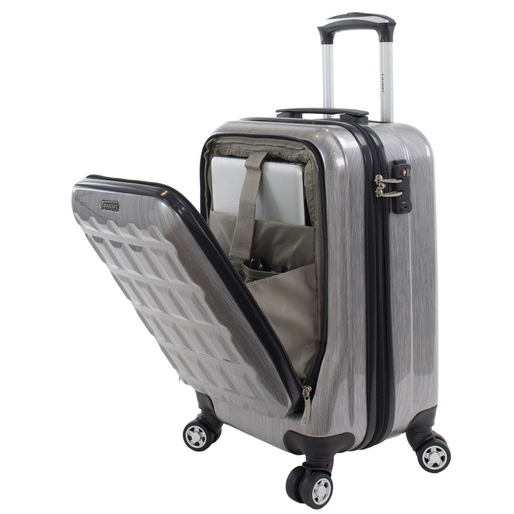 "Chariot Duro 20"" Carry-on Hardisde Spinner Grey"