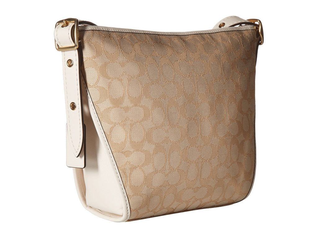 Coach Dufflette Crossbody Shoulder Bag Light Khaki