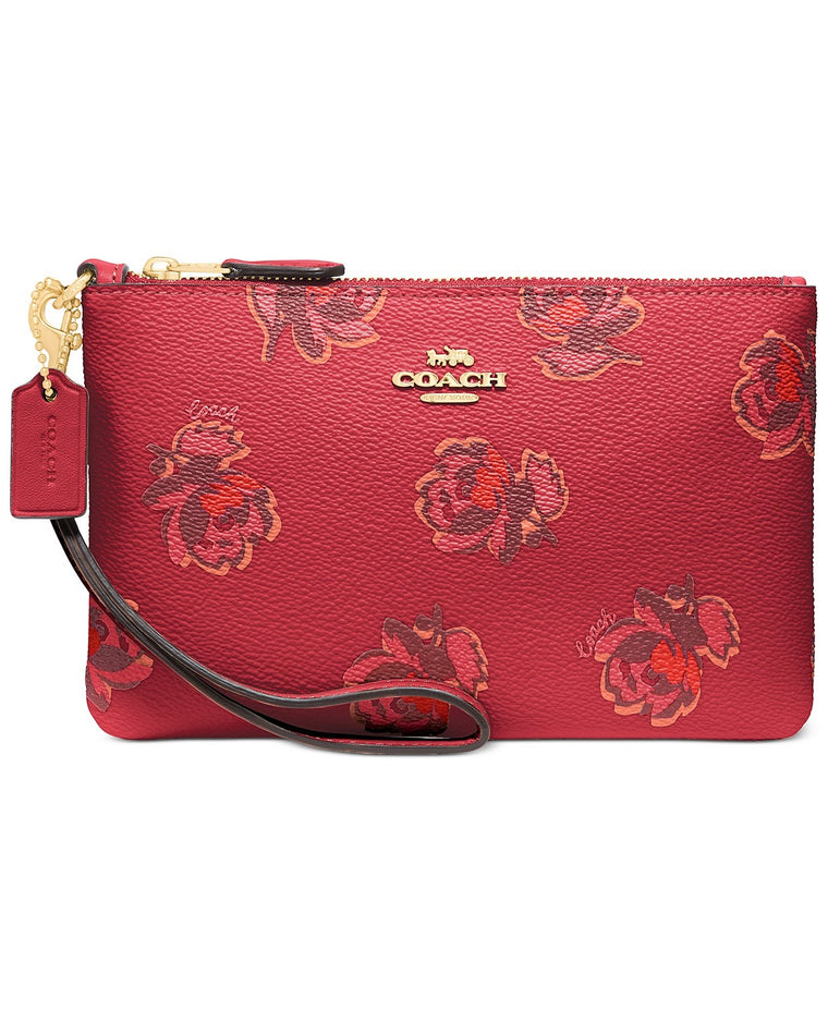Coach Wristlet Apple Floral Print