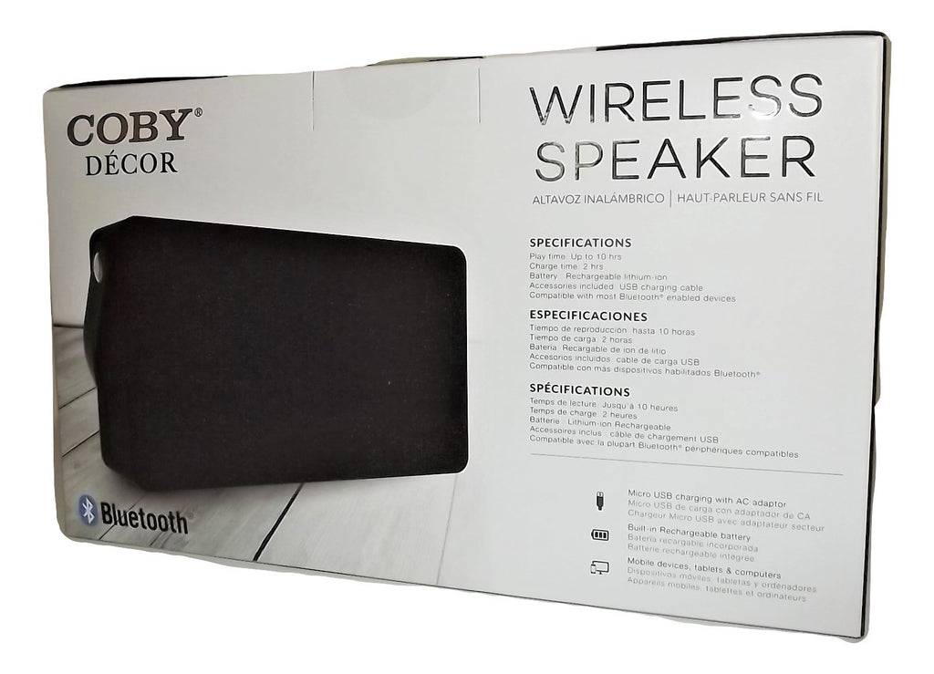 Coby Decor Bluetooth Wireless Speaker Black