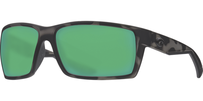 Costa Del Mar Ocearch Reefton Sunglasses Green Mirror Polarized Lens Tiger Shark Frame