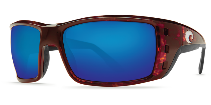 Costa Del Mar Permit Sunglasses Blue Mirror Polarized Lens Tortoise Frame