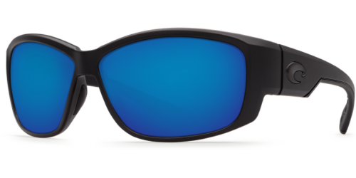 Costa Del Mar Luke Sunglasses Blue Mirror Lens Black Frame