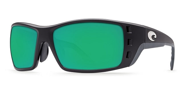 Costa Del Mar Permit Sunglasses Green Polarized Lens Black Frame