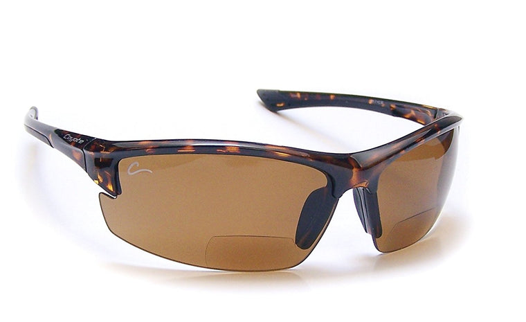 Coyote Eyewear Wrap BP-7 Polarized 1.50 Reader Sunglasses Tortoise Frame