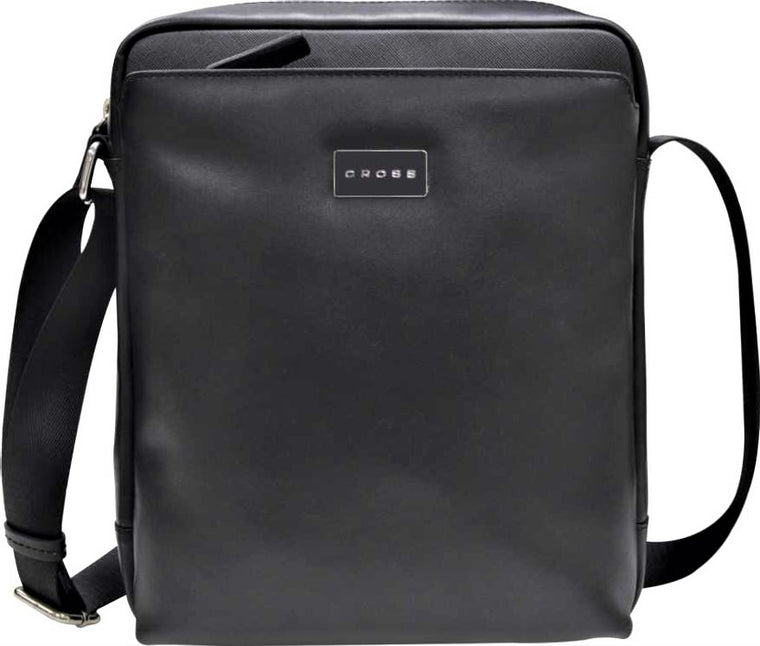 Cross Cordoba Leather Tablet Crossbody Bag Black