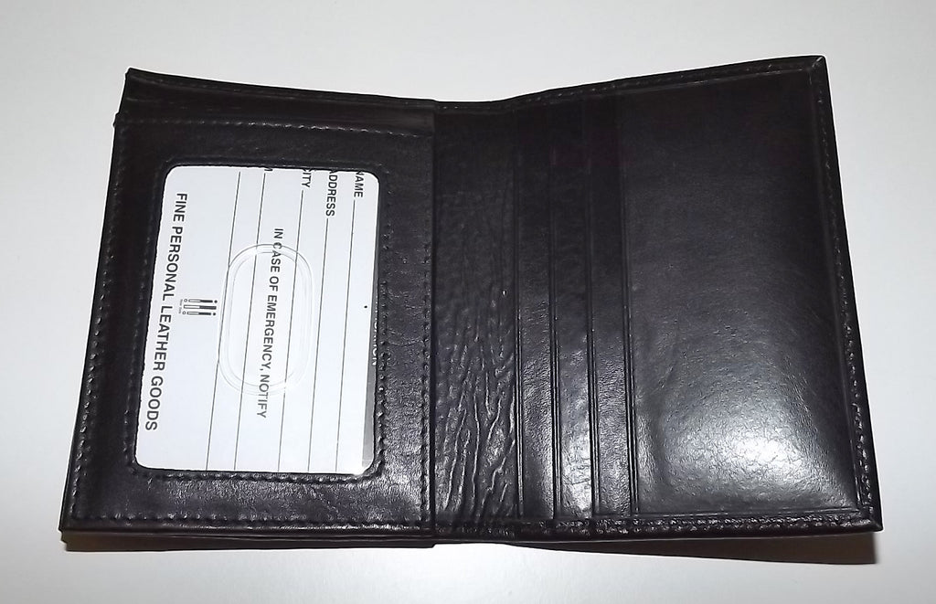 Italia Leather Men's RFID Blocking L Fold Credit Card ID Wallet