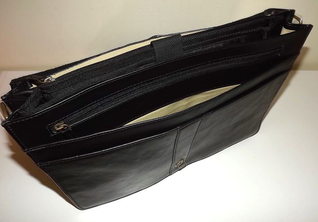Scully Hidesign Leather Double Gusset Laptop Briefcase