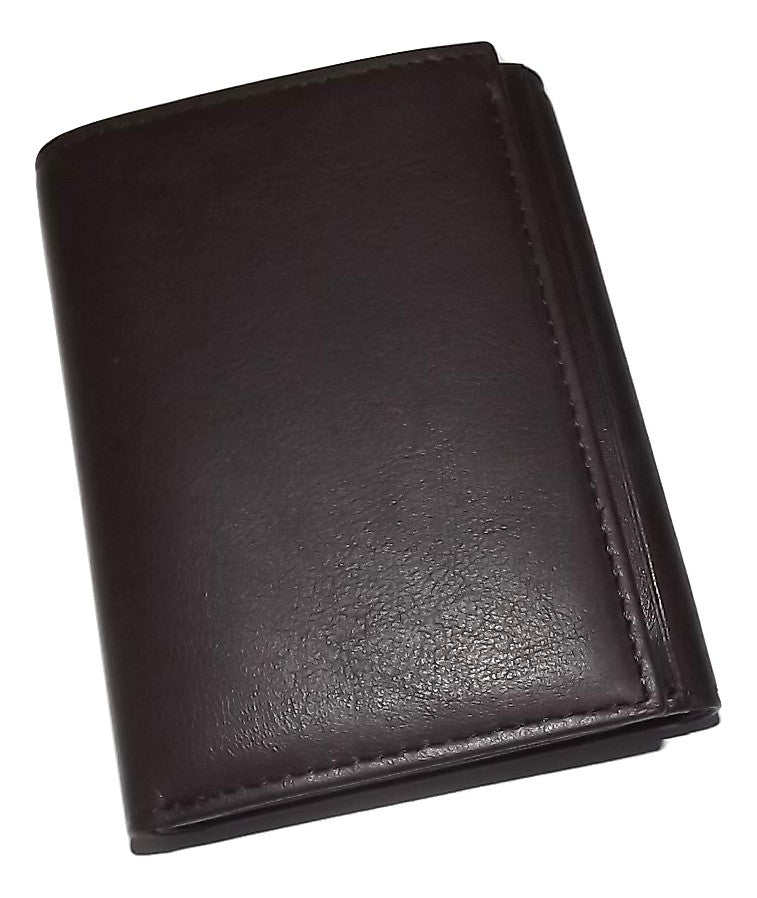Bosca Nappa Leather Trifold Wallet Brown