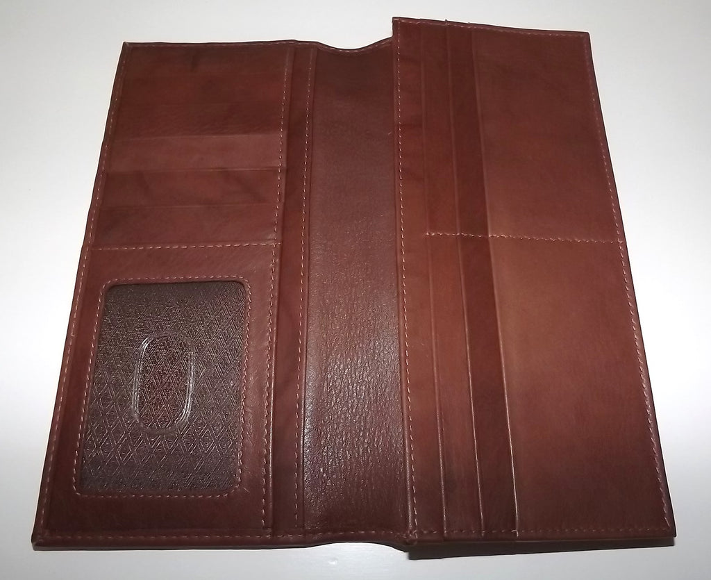 Italia Leather Breast Pocket Wallet Brown