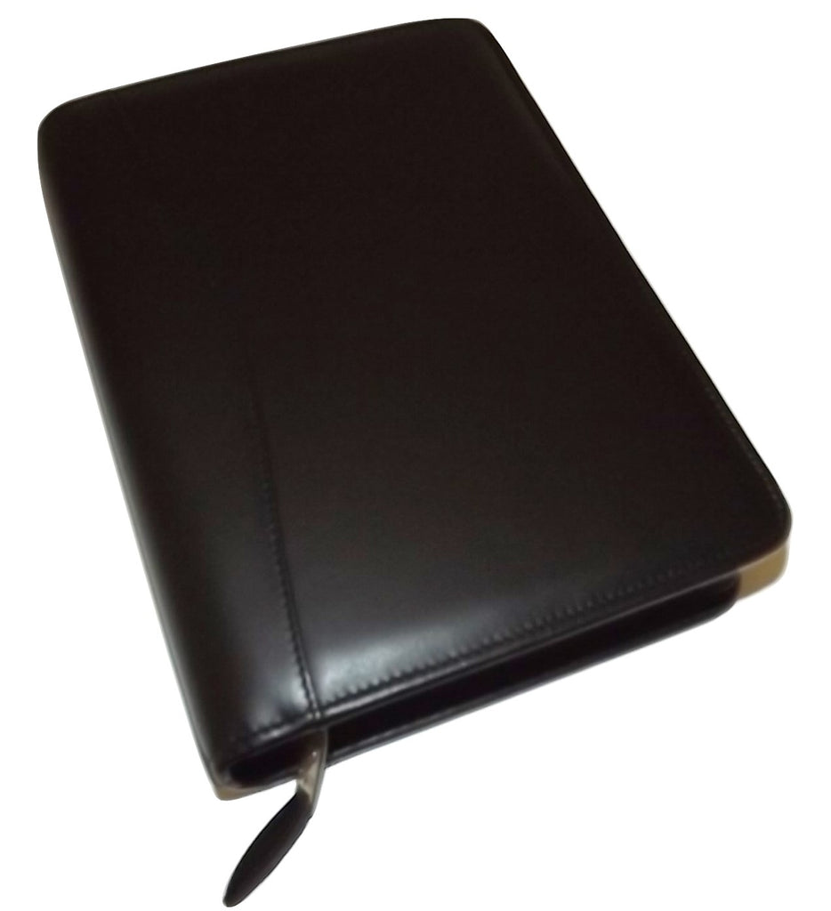 Scully Nappa Leather 3 Ring Agenda Black