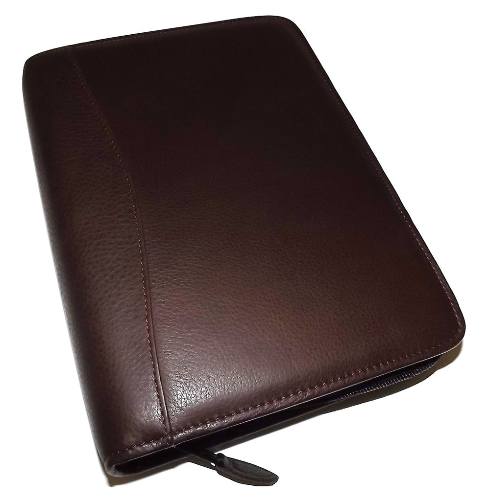 Scully Nappa Leather 3 Ring Agenda Chocolate