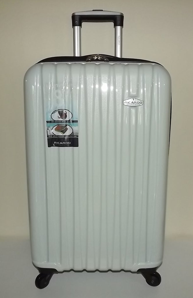 "Ricardo Beverly Hills Claremont 24"" Polycarbonate Spinner Luggage White Carbon"
