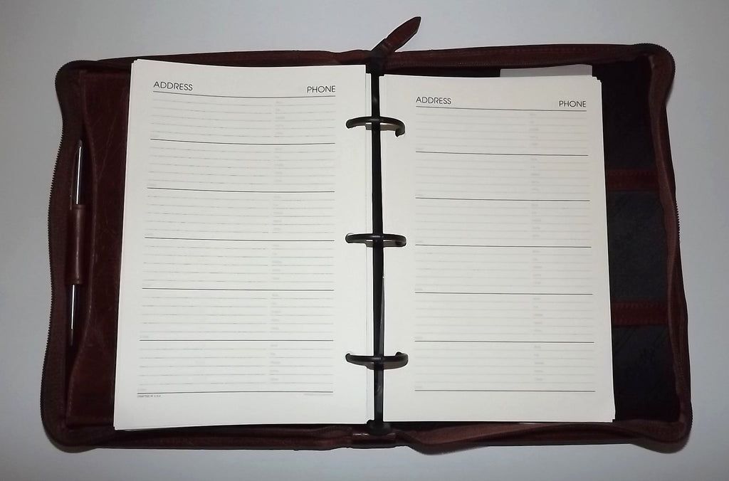 Scully Leather Weekly/Monthly Planner Agenda