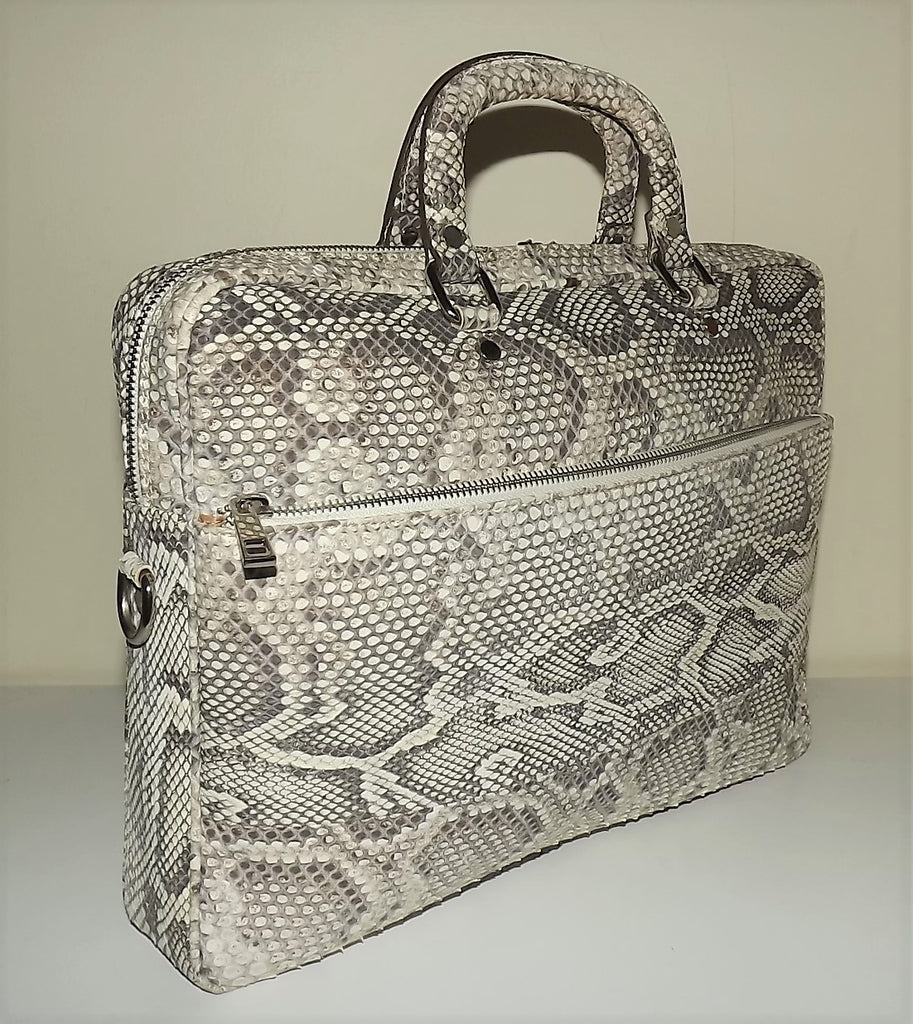 Baglioni Italia Vero Pitone Genuine Python Brief Bag Multi