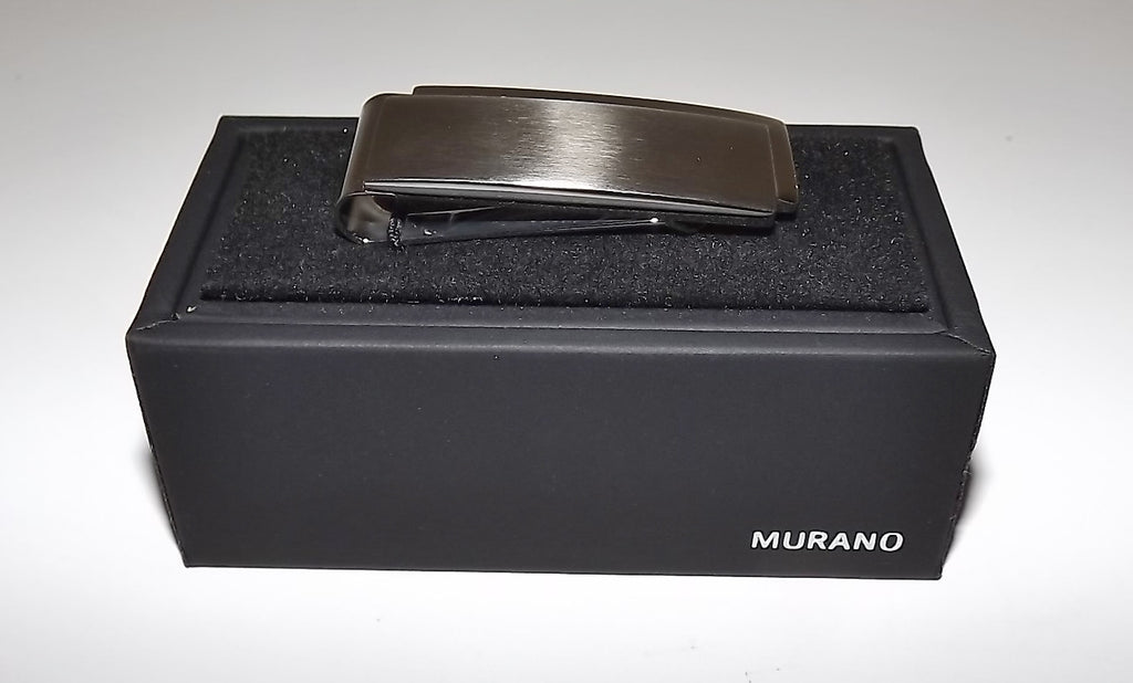 Murano Heat Tempered Brushed Stainless Steel Money Clip