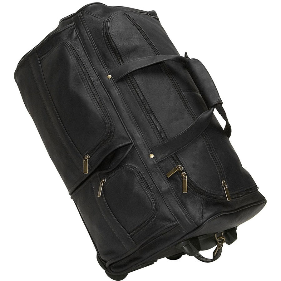 David King 22 Wheeled Duffel Cognac
