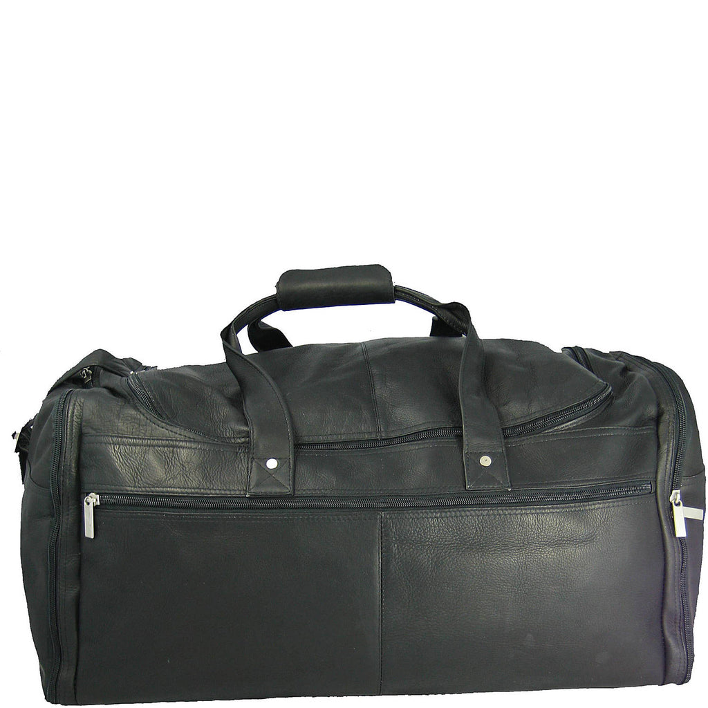 "David King Colombian Leather 22"" Carry-on Duffel Black"