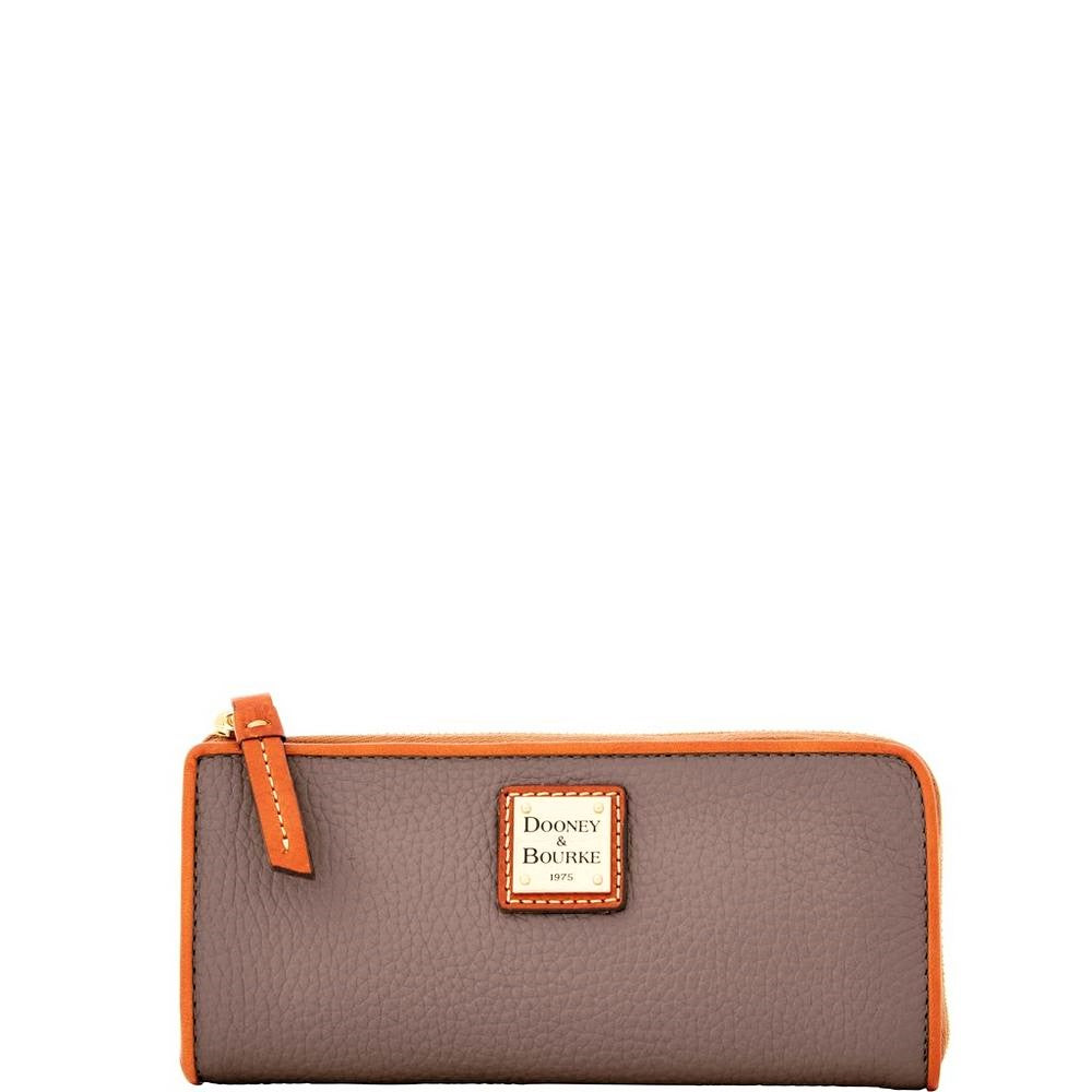 Dooney & Bourke L-Zip Clutch Wallet Elephant