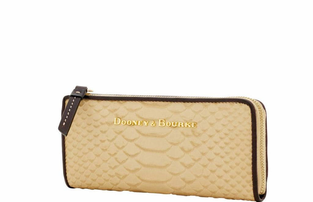 Dooney & Bourke Caldwell L-Zip Clutch Sand