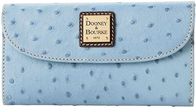 Dooney & Bourke Ostrich Continental Clutch Dusty Blue