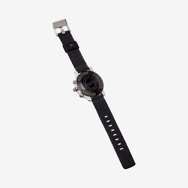 Electric Nato Chronograph Watch Black Poly Band FW02