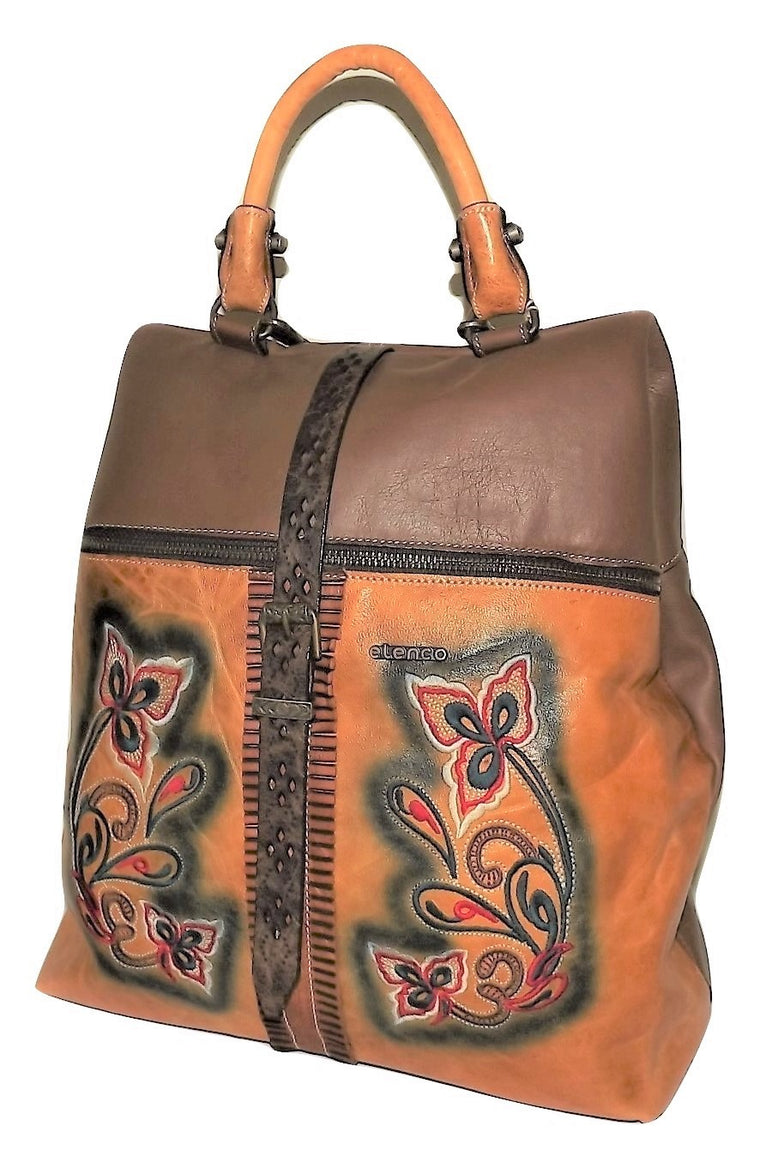 Elenco Lisbon Embroidered Convertible Backpack Yellow