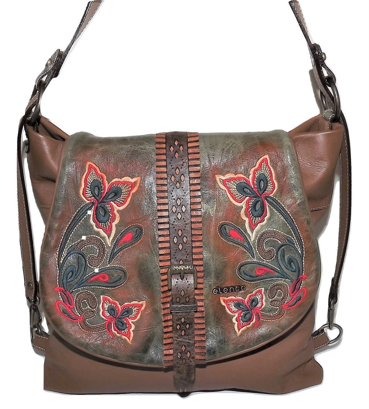Elenco Lisbon Crossbody Bag Brown Multi