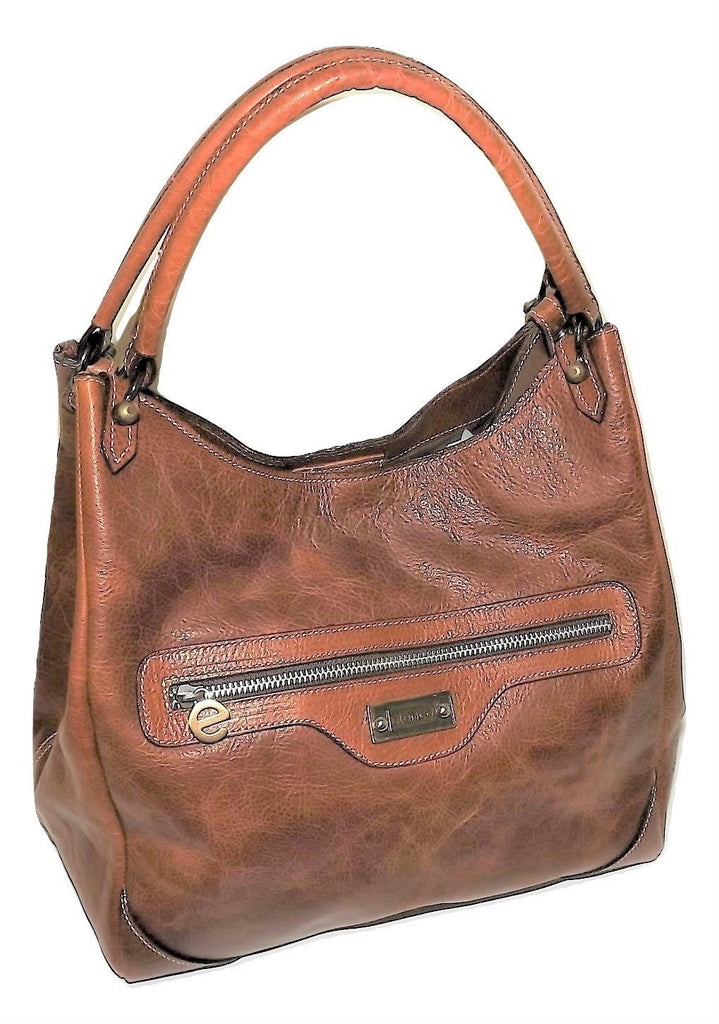 Elenco Almada Satchel Crossbody Bag Cognac