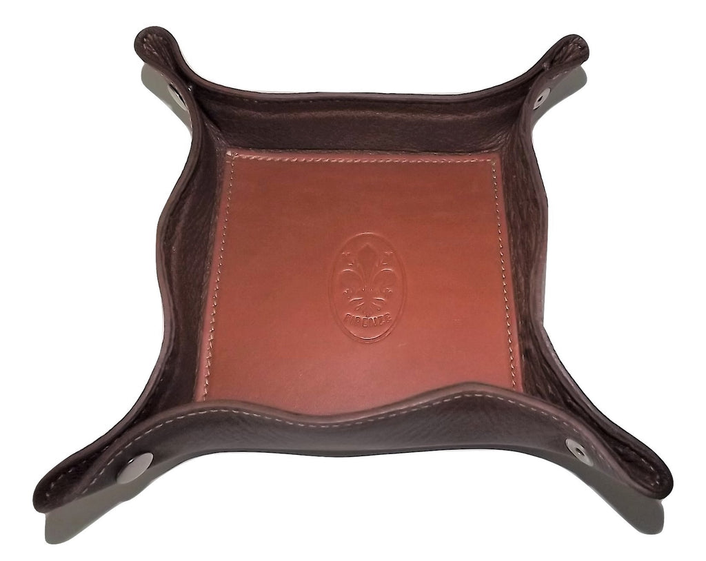 Firenze Snap Valet Tray Ostrich Brown/Tan