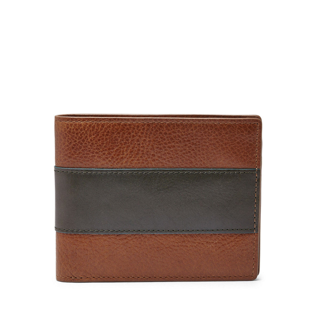 Fossil Men's Leather Charles Bifold Credit Card Wallet