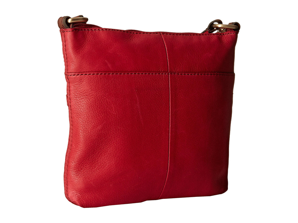 Fossil Women's Leather Explorer Mini Crossbody Shoulder Bag Real Red
