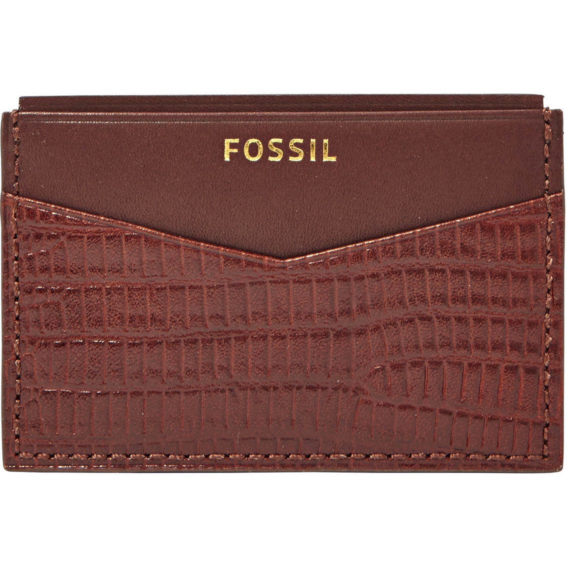Fossil Men's Leather Francis Front Pocket Card Case Wallet