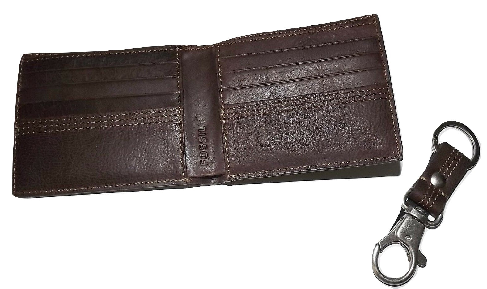 NEW SCULLY LEATHER RFID PROTECTED ZIP CREDIT CARD CASE WALLET WITH KEY FOB BLACK