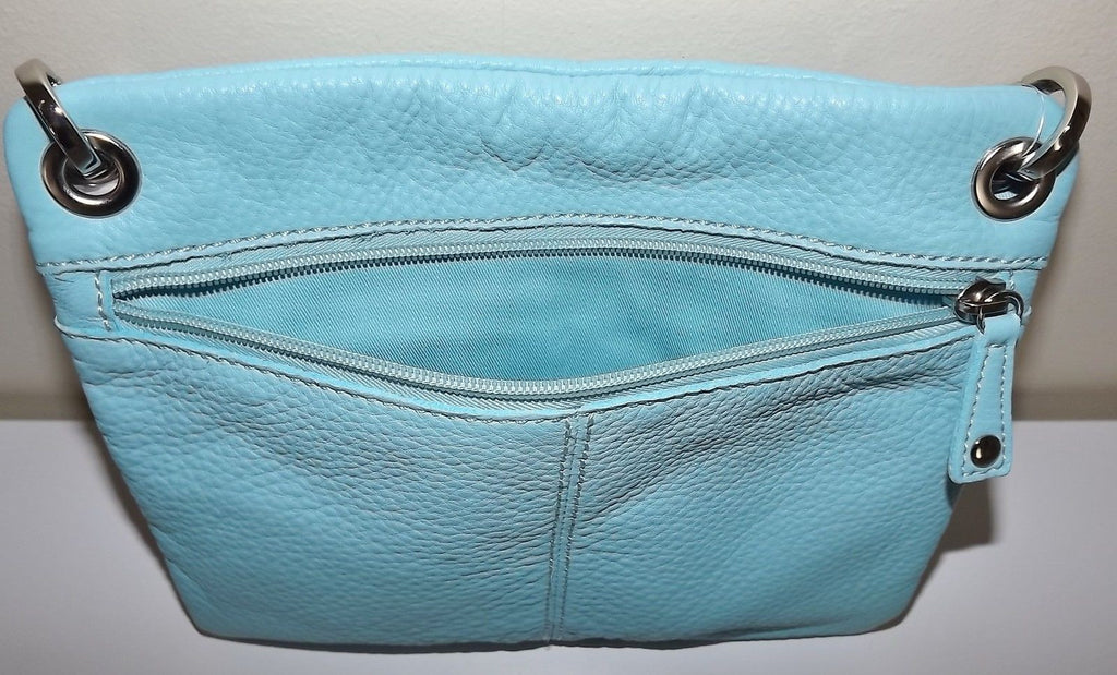 Fossil Women's Leather Sutton Crossbody Shoulder Bag Blue