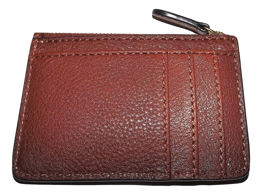 Frye Key Card Case Wallet Cognac