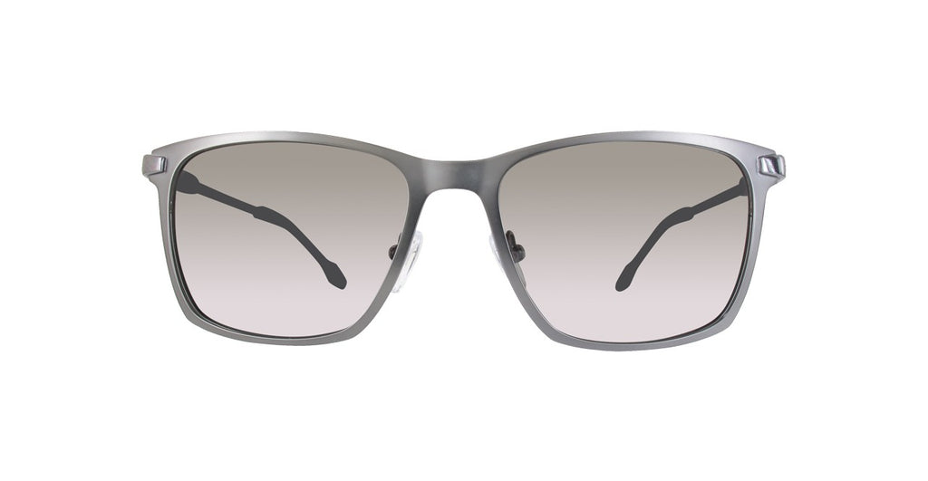 GF Ferre Rectangle Sunglasses Smoke Grey Lens Matte Grey Frame