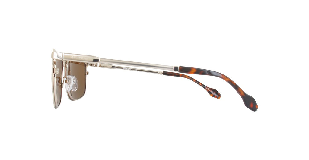 GF Ferre Rectangle Sunglasses Bronze Lens Pewter Frame