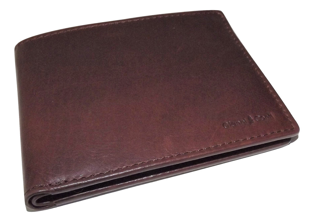 Gianni Conti Bifold 5 Pocket ID Wallet Brown