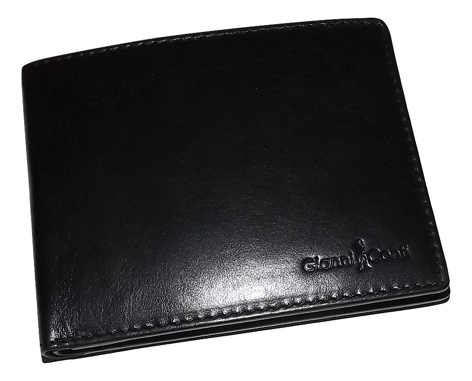 Gianni Conti Bifold 8 Pocket Wallet Black