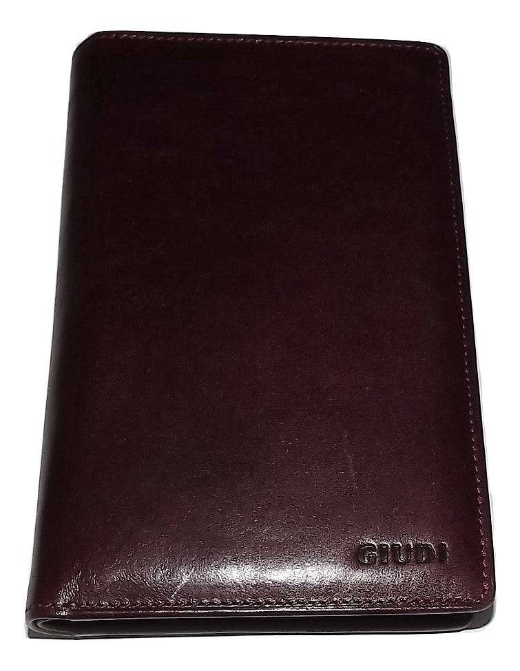 Guidi Breast Pocket Wallet Burgundy