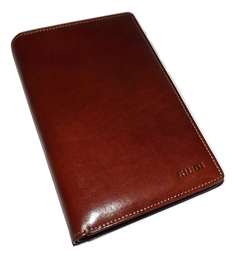 Guidi Breast Pocket Wallet Cognac